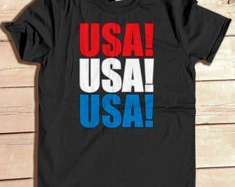 USA!, July 4th, 4th of July, Independence Day, USA shirt, Usa Map, matching shirts, family photo shirts, family BBQ shirt, patriotic shirt
