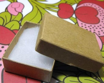memorial day sale 100 Pack Kraft Brown Cotton Filled 11 Size Cotton Filled Boxes 1  7/8 Inch by 1  1/4 inch by 5/8 Inch Size