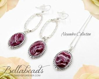 Flower Petal Jewelry,Memorial Jewelry, Custom Jewelry Idea, Memorial Gift Idea, Custom Pendant, Alexandra Set w/Pendant & Earrings