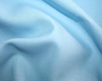 Sky blue 80/20 cotton wool Truella twill fabric 0.50 metre - ideal for smocking