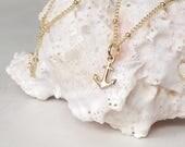 Hébreux 06:19 espère ancre le collier de charme petite ancre de l'âme en or