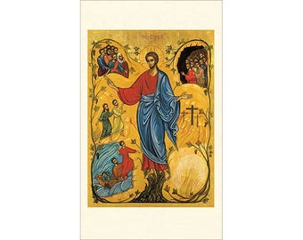 Follow Me Icon Style Holy Cards - Jesus Icon Holy Cards - Package of 5