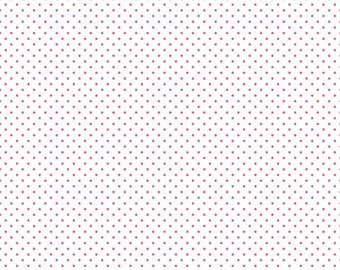 Swiss Dot On White Raspberry  (C660-Raspberry)
