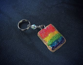 Pride Sparkle Tarts: Handsculpted Toaster Pastries with Rainbow Glitter Frosting for Knitters and Crocheters