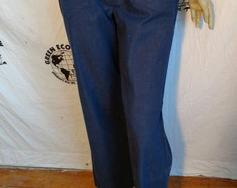 Hip hugger jeans S hip 34 -38 X 29 patch pockets Herman's Anna From Montana USA