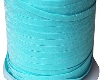 20% OFF EXP 06/30 3/8 Glitter Stretch Velvet Elastic 5 YARDS - No Flake - Frosty Blue
