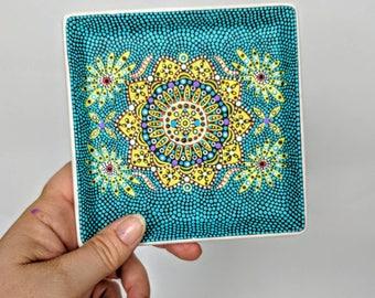 Trinket dish hand painted trinket dish