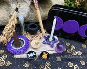 Pocket Travel Altar in Purple Ready to Ship