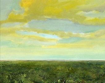 Oil Painting CUSTOM Modern Abstract Sky Cloud Field LANDSCAPE ART by J Shears