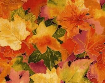 Autumn Air Leaves Forest Floor RJR Fabric