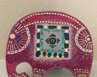 Bella, the Pink Elephant, OAK Original Mosaic