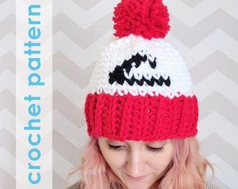 pokemon crochet pattern, ash ketchum hat, pom pom hat, crochet pokemon hat, pokemon league, crochet hat pattern, ash ketchum, pokemon go hat