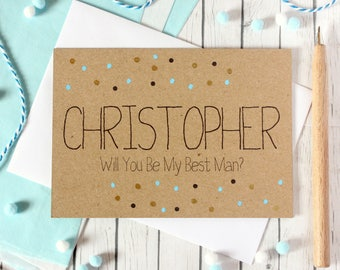 Personalised Best Man Card. Best Man. Will You Be My Best Man. Card to Ask Best Man. Be My Best Man Card. Best Man Wedding Card. Will You Be