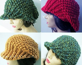 The Brimmed Slouchy Hat w/Stretch Satin Lining - Choose Your Color