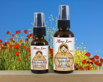 Putting Your Needs First, Flower Essence Aromatherapy Spray, Organic, Reiki-Infused for Self-Worth and Self-Care