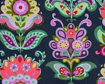 Free Spirit Amy Butler PWAB146 Bright Heart Folk Bloom Midnight By The Yard