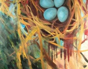 Nest Print 60 x 39 inches