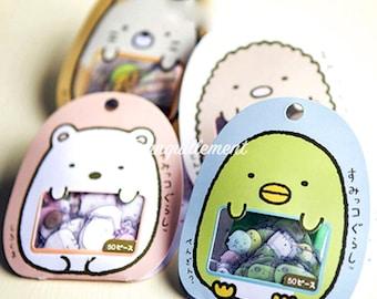 Lot Of 4 Sets Kawaii Japanese Bear Chick Cat Animal Mini Clear Decorative Scrapbook Stickers