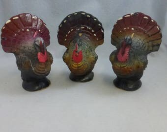 Vintage Mid Century Gurley  4 1/2 Inch Turkey Candle   GC1011