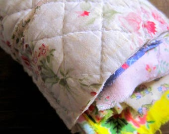 Vintage Fabric Scrap Pack, French Fabric, Faded Florals, Shabby Chic Florals, Patchwork, Quilting, Fairy Dresses. Mixed Media, Applique