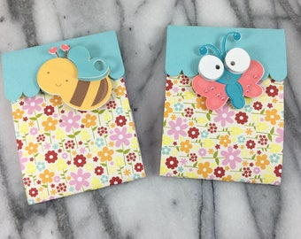 Gift cards etsy gift card holder butterfly and bees card wrapping holiday gift card negle Gallery