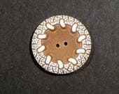 Buffed Celluloid Sewing Button