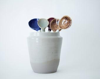 ceramic vase, ceramic utensil holder