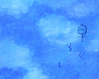 original fine art painting - Leap of Faith - wall decor by Irene Stapleford - wantknot shop