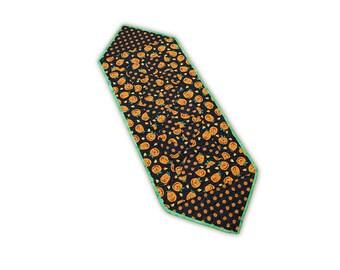 Halloween Pumpkin Handmade Quilted Patchwork Table Runner Free USA Shipping