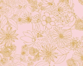 Sahuaro Picks Pale Pink - Morning Walk - Leah Duncan - Art Gallery Fabric - 100% Quilters Cotton Available - Yards, Half Yards FQ's MWK-2111