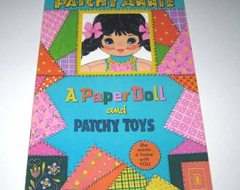 Vintage 1960s or 1970s Patchy Annie Paper Doll Book for Children by Artcraft