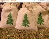On Sale Three Balsam Fir Cotton Muslin Sachet Gift Bags  -  Set Of Three Sachet Bags -   Naturally Scented
