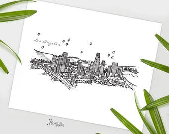 Los Angeles, California - United States - Instant Download Printable Art - City Skyline Series
