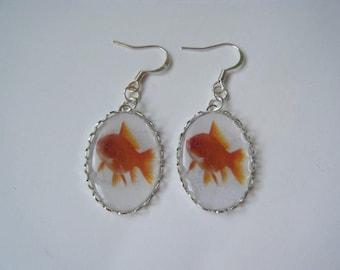 Earrings - red fish