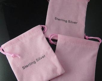Grab Bag 4 Cloth Bags String Closure Widows Orphans Findings Supplies (266grab1)