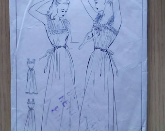 """1950s Nightdress -  32"""" Bust - Style 4774 - Vintage Sewing Pattern"""