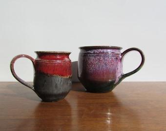 "Michael Nowack Studio Pottery Coffee Mug Set, Delightful ""Big Ear"" Handles - Handmade Mugs to be Used"