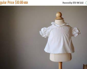 ANNIVERSARY SALE 1960s Simple Cotton Blouse, size 3 months