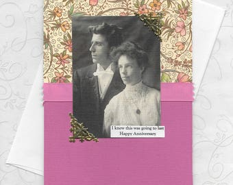 Pretty Pink Anniversary Card - I Knew This Would Last