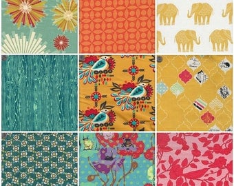 Summer Crush Mosaic Hot Fat Quarter Pack - 9 Fat Quarters