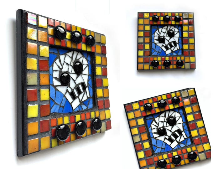 SKULL Day of the Dead Wall Decor, Mosaic Skull Art, Day of the Dead Mosaic Art, Skull Art, Mosaic Art, Dia de los Muertos Skull Decor