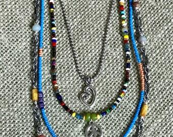 Gypsy Soul 3 Strand Boho Style Necklace