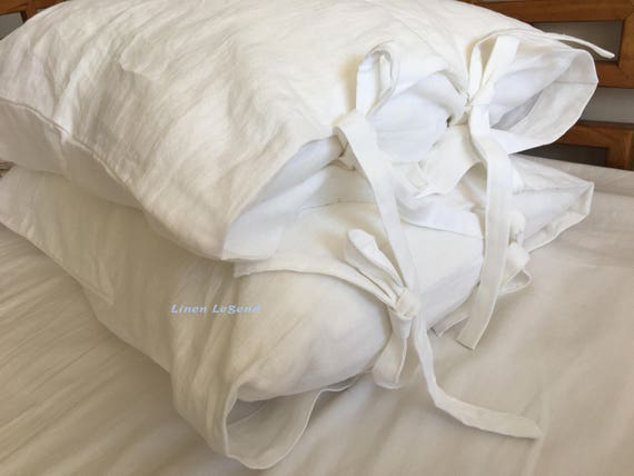 faite sur mesure paire shabby chic pr lav 100 lin naturel. Black Bedroom Furniture Sets. Home Design Ideas