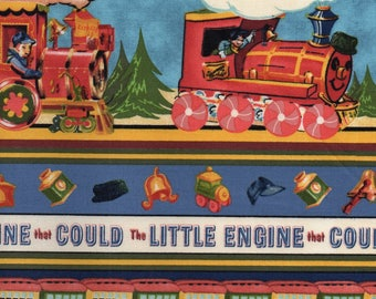Little Engine That Could Print 100% Cotton Quilting Fabric