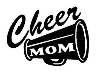 Cheer Mom Vinyl Car Decal Bumper Window Sticker Any Color Multiple Sizes Mothers Day Jenuine Crafts