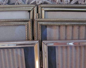 Lot 3 Double 8 x 10  Gold Metal Picture Frames, Ornate Vintage Picture  Frames