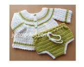 Cute Two Piece Set Baby Crochet Pattern (DOWNLOAD) FJC151