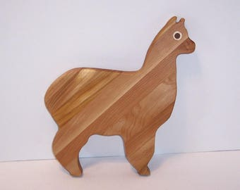 Alpaca Cutting  Board Handcrafted from Mixed Hardwoods