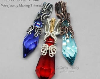 SALE - Cobra Head Bail Pendant - Wire Wrapped Jewelry Tutorial