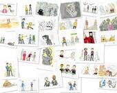 Star Trek Scribble original illustrations - commissions